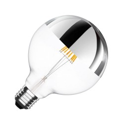 Bombilla Led Globo Ø125mm 6w Cúpula Plata Regulable