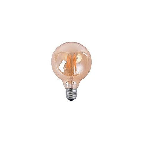 Bombilla Decorative Globo Led Amber 4w-6w Ø80mm