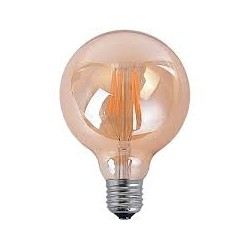 Bombilla Decorative Globo Led Amber 4w-6w Ø95mm