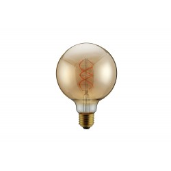 Bombilla led E27 5W Globo amber regulable Ø125mm
