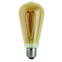 Bombilla Led E27 5W Pebetero Amber regulable